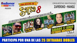 ¡Radiomar te regala entradas dobles para el concierto 'Una Noche de salsa 8'!