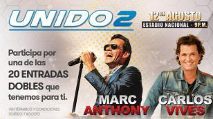 ¡Radiomar, vive gozando, te regala entradas para el concierto UNIDO2!