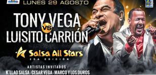 Tony Vega y Luisito Carrión en el concierto Salsa All Stars 2