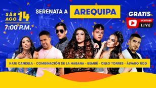 Serenata a Arequipa: Radiomar realizará concierto totalmente gratis por aniversario de la Ciudad Blanca