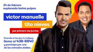 ¿Quieres una entrada doble para ver a Víctor Manuelle y Tito Nieves en concierto? ¡Mira lo que tienes que hacer!