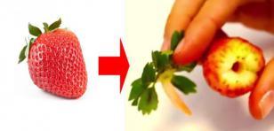 ¿Cómo quitarle el tallo a las fresas fácilmente?