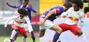 Yordy Reyna anotó golazo de media cancha con el Red Bull Salzburgo
